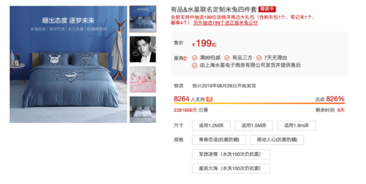 小米有品联名水星家纺推出米兔主题床品四件套 众筹价199元起