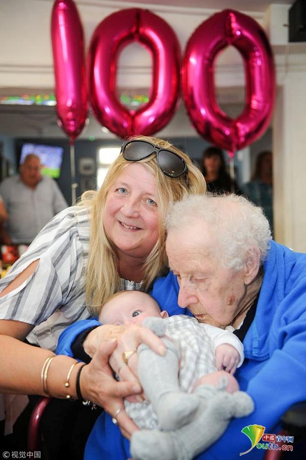 """她66岁的伴侣兼照顾者苏西摩尔(Susie Moore)说:""""我认为这就是让她长命的原因"""