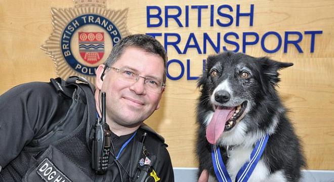 英国一只警犬被授予荣誉勋章