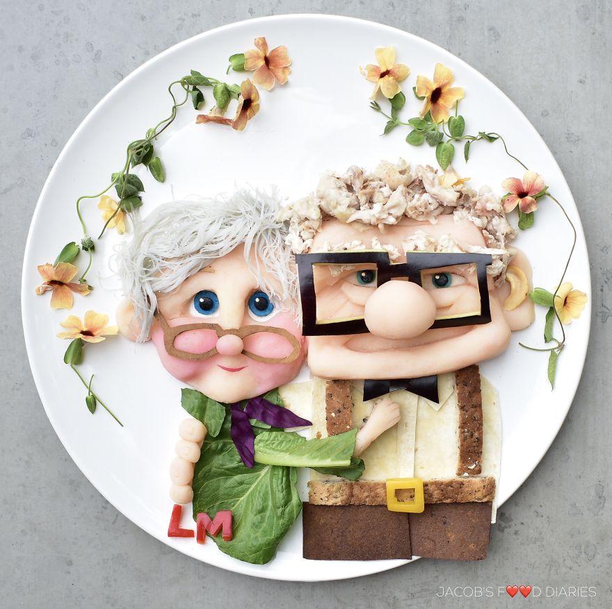 为让孩子健康饮食 外国辣妈做百种卡通造型餐