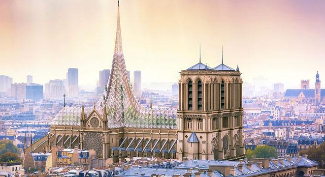 法国设计师提出巴黎圣母院重建方案:将屋顶改造成温室