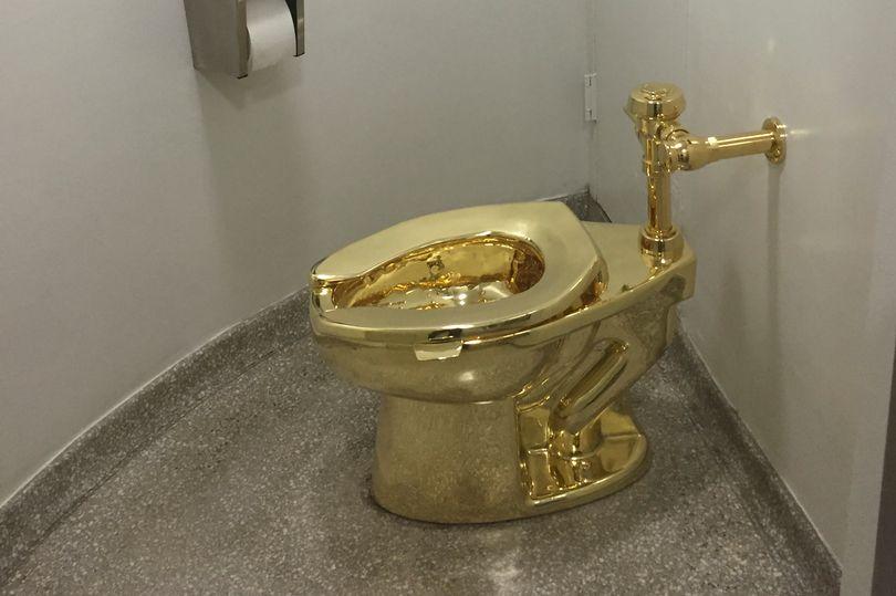 英国布伦海姆宫安装代DEDE模板下载价百万英镑的黄金马桶 可供游客操作