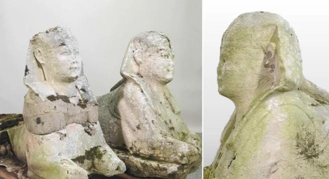 花园里的雕塑竟然是古埃及文物 拍卖价格高达19.5万英镑