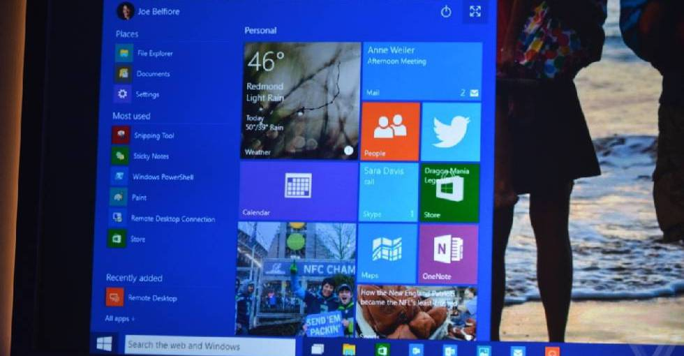 微软Windows 10发布会 消费者预览版拉开神秘面纱