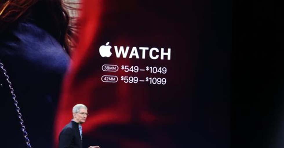 苹果推出Apple Watch 最高售价12万人民币